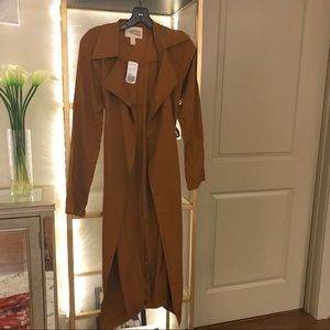 Forever 21 Casual Camel Trench Size Small